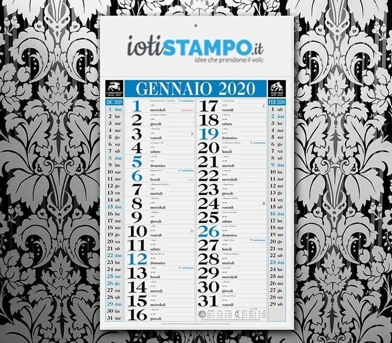Calendario 2020 Da Colorare Per Bambini.Stampa I Tuoi Calendari E Agende Con Iotistampo