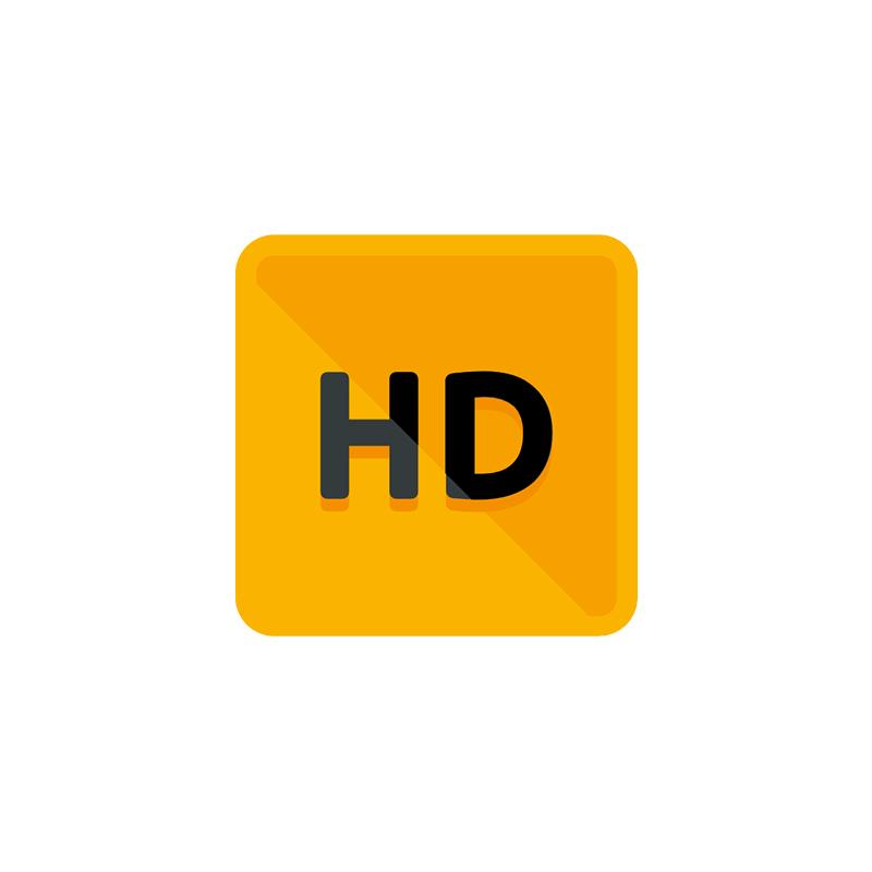 Icona per Qualità HD su tutte le stampe